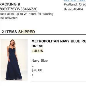 Lulus navy blue bridesmaids dress